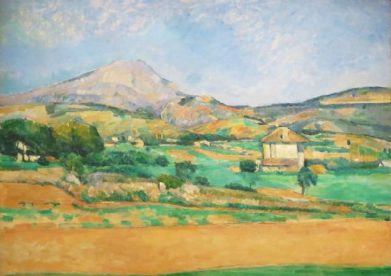 Cezanne, Paul: The Plain with Mont Sainte Victoire, View from Valcros. Fine Art Print/Poster. Sizes: A4/A3/A2/A1 (004238)